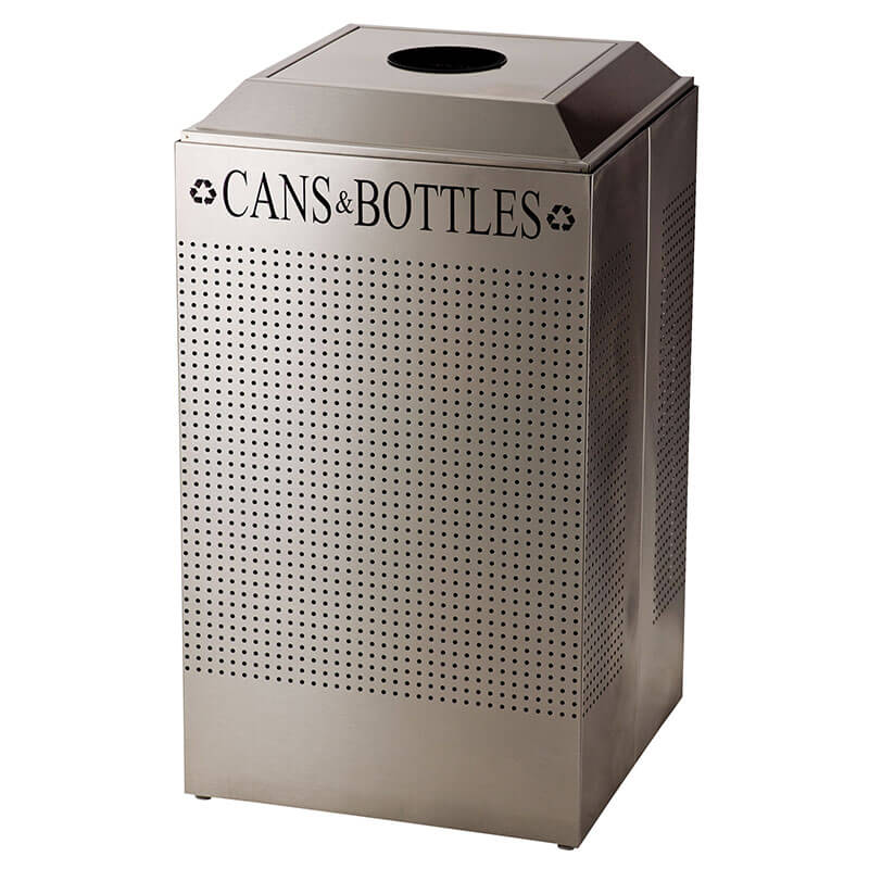 Rubbermaid FGDCR24C SS 29-gal Cans Recycle Bin - Indoor, Decorative