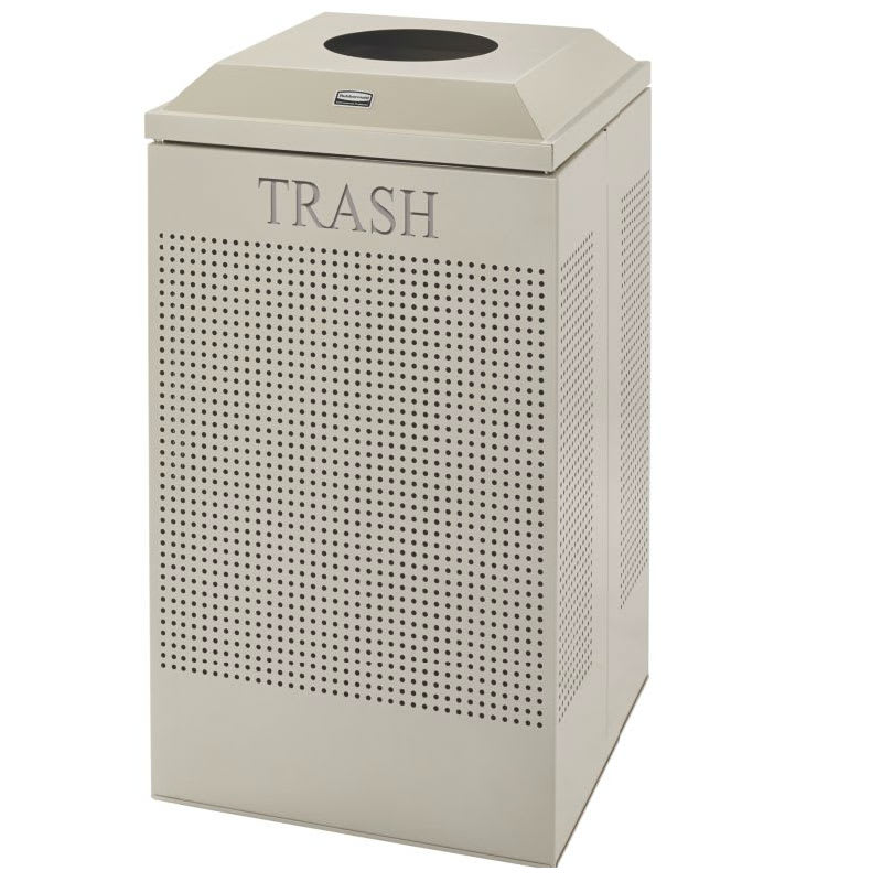 Rubbermaid FGDCR24T DP 29-gal Cans Recycle Bin - Indoor, Decorative