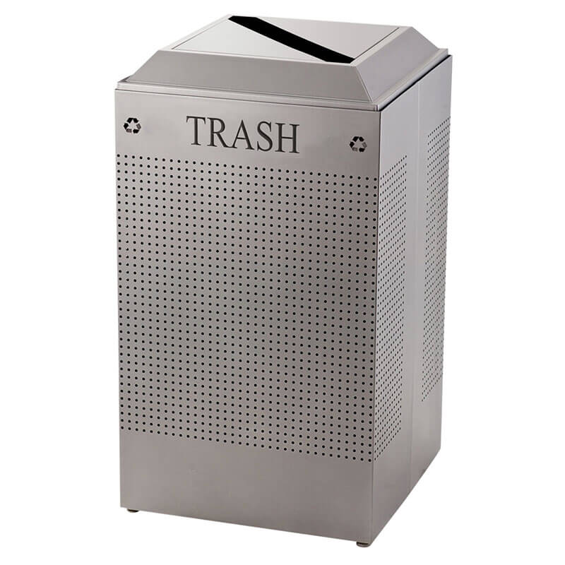Rubbermaid FGDCR24T SM 29-gal Cans Recycle Bin - Indoor, Decorative