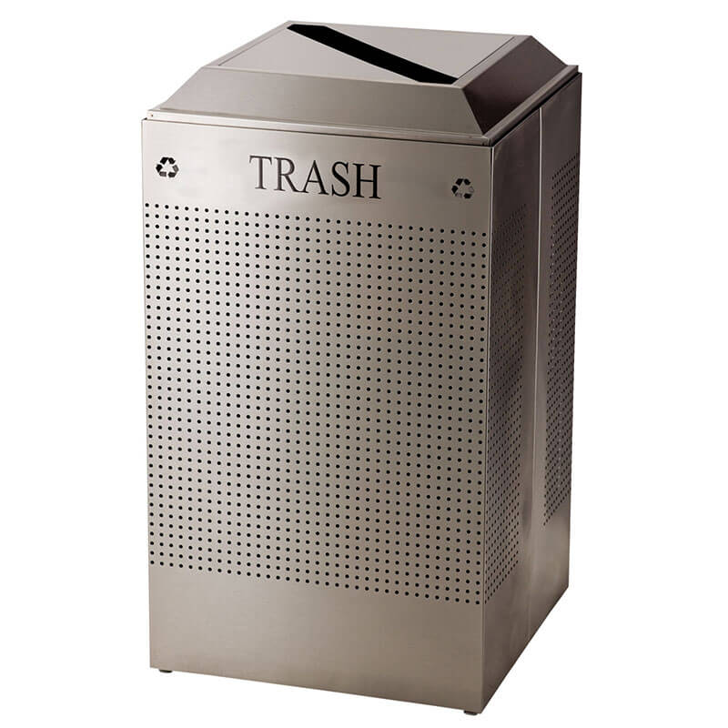 Rubbermaid FGDCR24T SS 29 gal Cans Recycle Bin - Indoor, Decorative