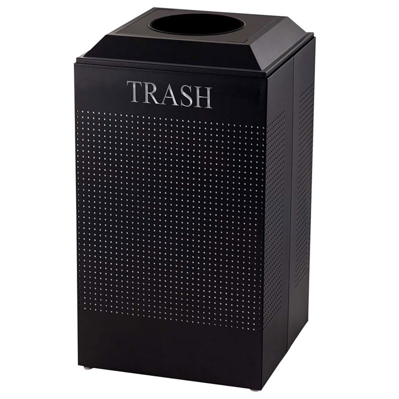 Rubbermaid FGDCR24T TBK 29-gal Cans Recycle Bin - Indoor, Decorative
