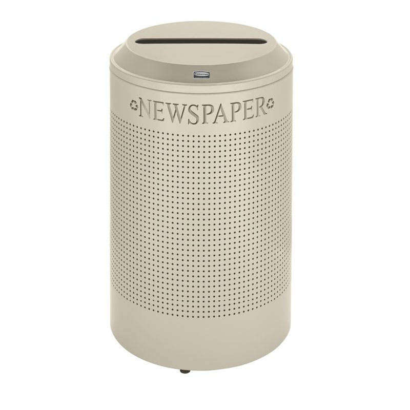 Rubbermaid FGDRR24P DP 26-gal Cans Recycle Bin - Indoor, Decorative