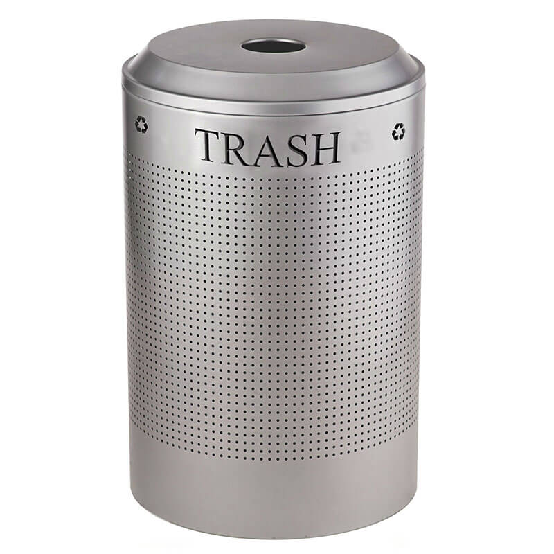 Rubbermaid FGDRR24T SM 26 gal Cans Recycle Bin - Indoor, Decorative