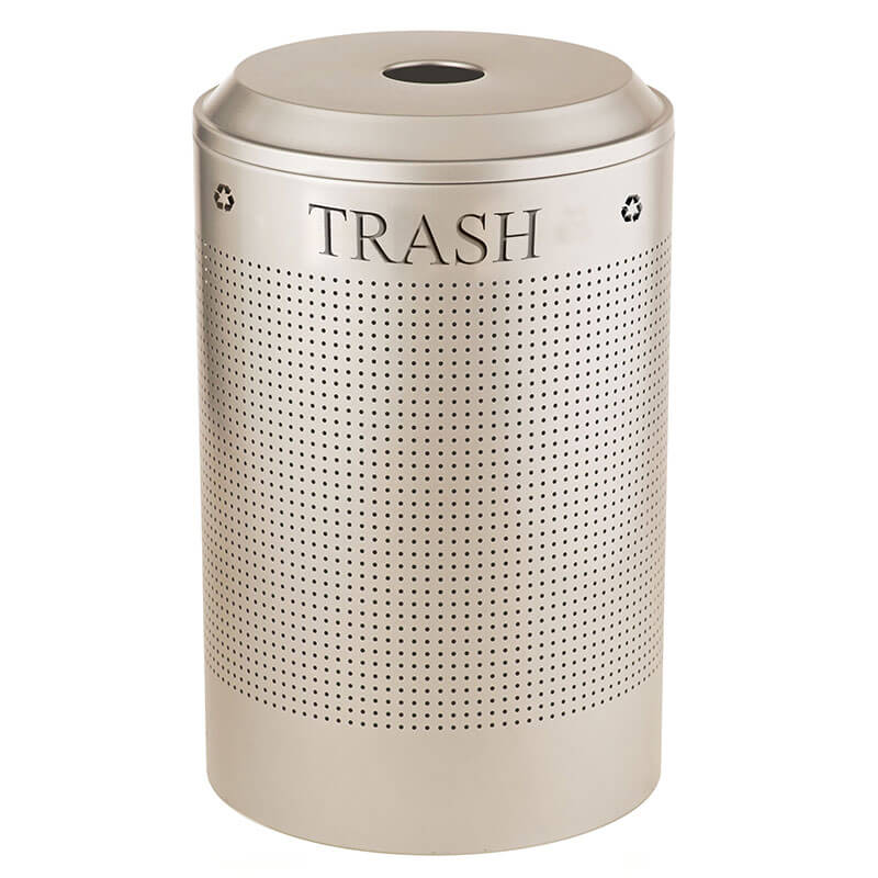 Rubbermaid FGDRR24T SS 26 gal Cans Recycle Bin - Indoor, Decorative