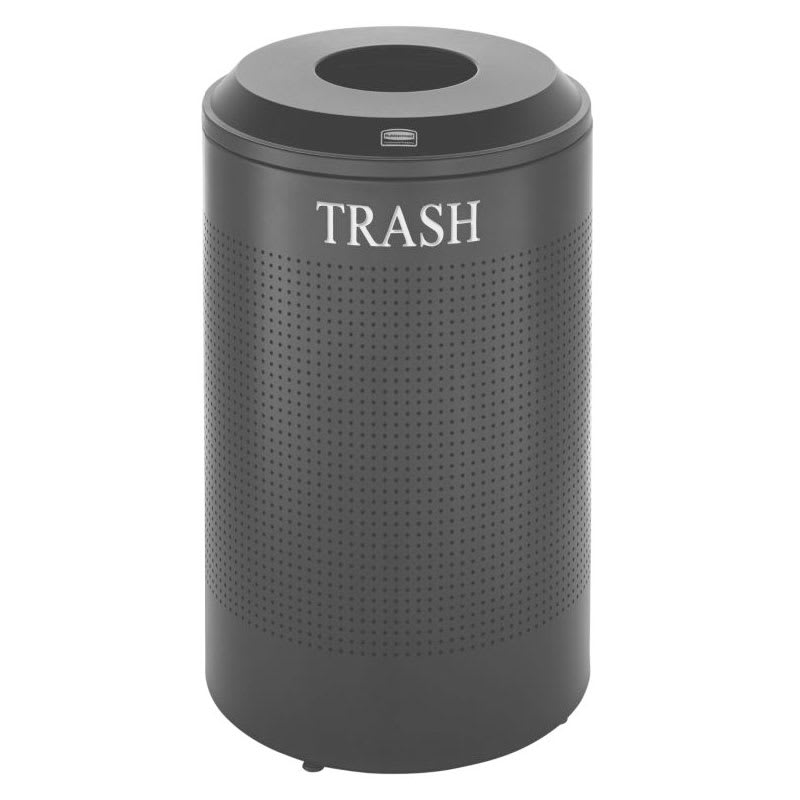 Rubbermaid FGDRR24T TBK 26 gal Cans Recycle Bin - Indoor, Decorative