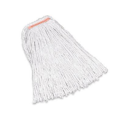 "Rubbermaid FGF11800WH00 24 oz Premium Mop Head - 1"" Headband, 4 Ply Cotton, White"