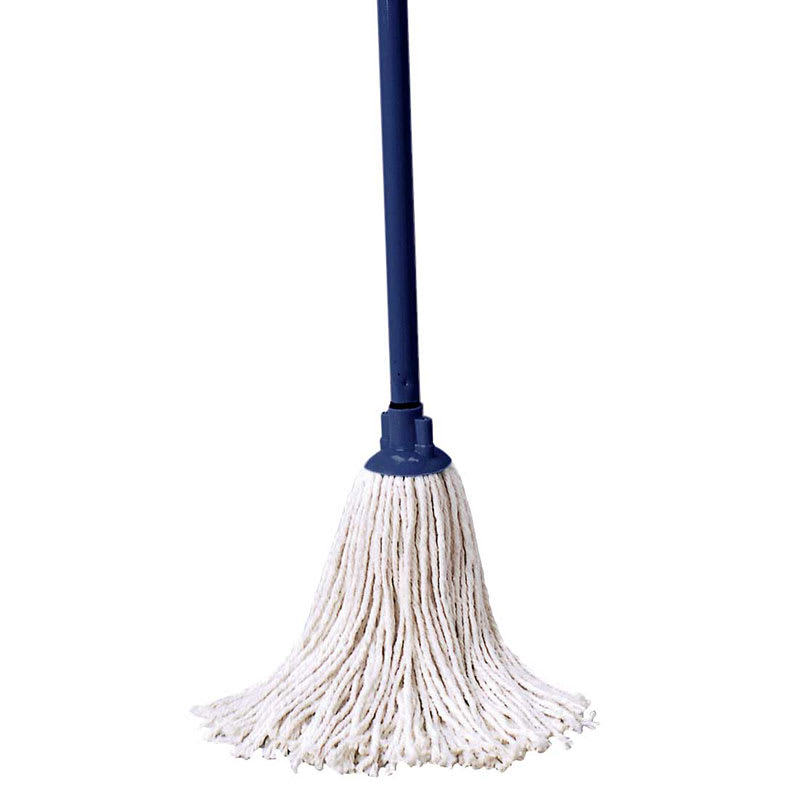 "Rubbermaid FGGO4204WH00 46"" Cotton Mop with Handle - White"