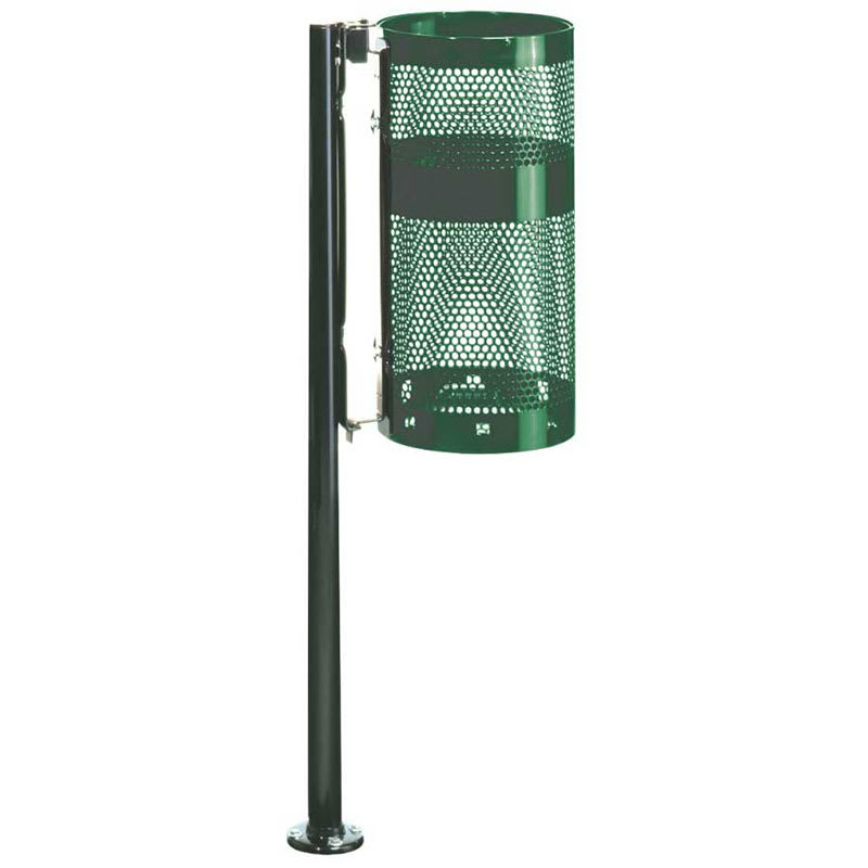 Rubbermaid FGH1NEGN 10-gal Outdoor Decorative Trash Can - Metal, Empire Green