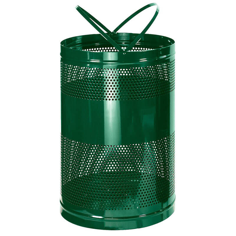 Rubbermaid FGH55EEGN 63-gal Outdoor Decorative Trash Can - Metal, Empire Green