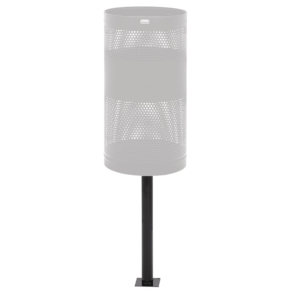 """Rubbermaid FGHPIG 64"""" In-Ground Mount Post - Black"""