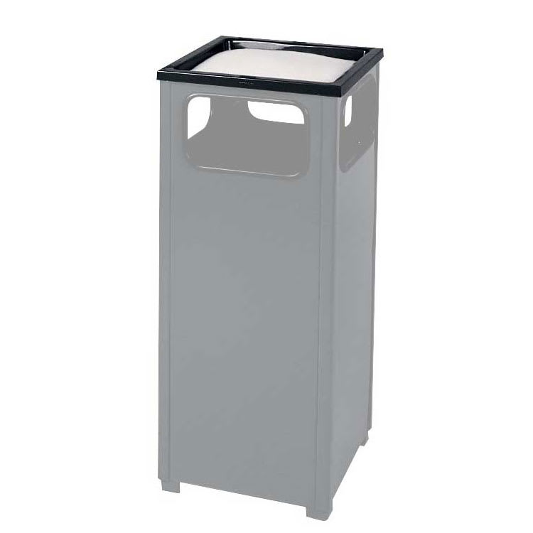 Rubbermaid FGHTA1BK Trash Can Top Cigarette Receptacle - Outdoor Rated