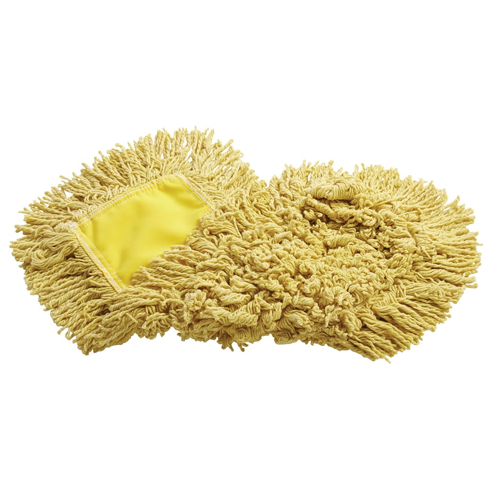 "Rubbermaid FGJ15203YL00 18"" Trapper® Dust Mop Head Only w/ Looped Ends, Yellow"