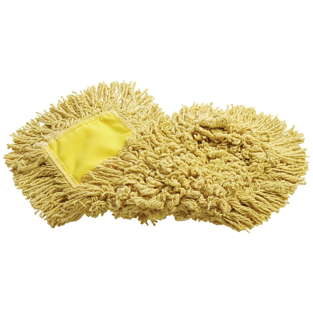 "Rubbermaid FGJ15303YL00 24"" Trapper® Dust Mop Head Only w/ Looped Ends, Yellow"