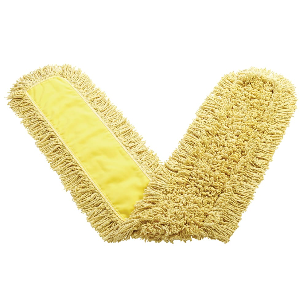 """Rubbermaid FGJ15800YL00 60"""" Trapper® Dust Mop Head Only w/ Looped Ends, Yellow"""