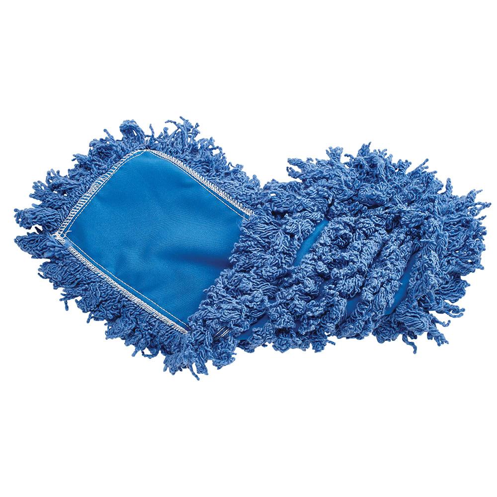 "Rubbermaid FGJ35200BL00 18"" Dust Mop Head Only w/ Twisted Loop Ends, Blue"