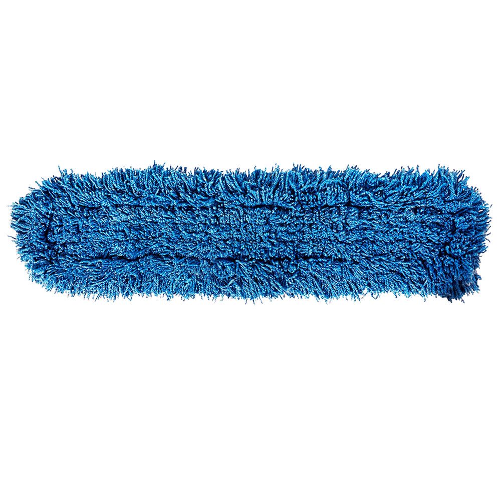 "Rubbermaid FGJ35500BL00 36"" Dust Mop Head Only w/ Twisted Loop Ends, Blue"