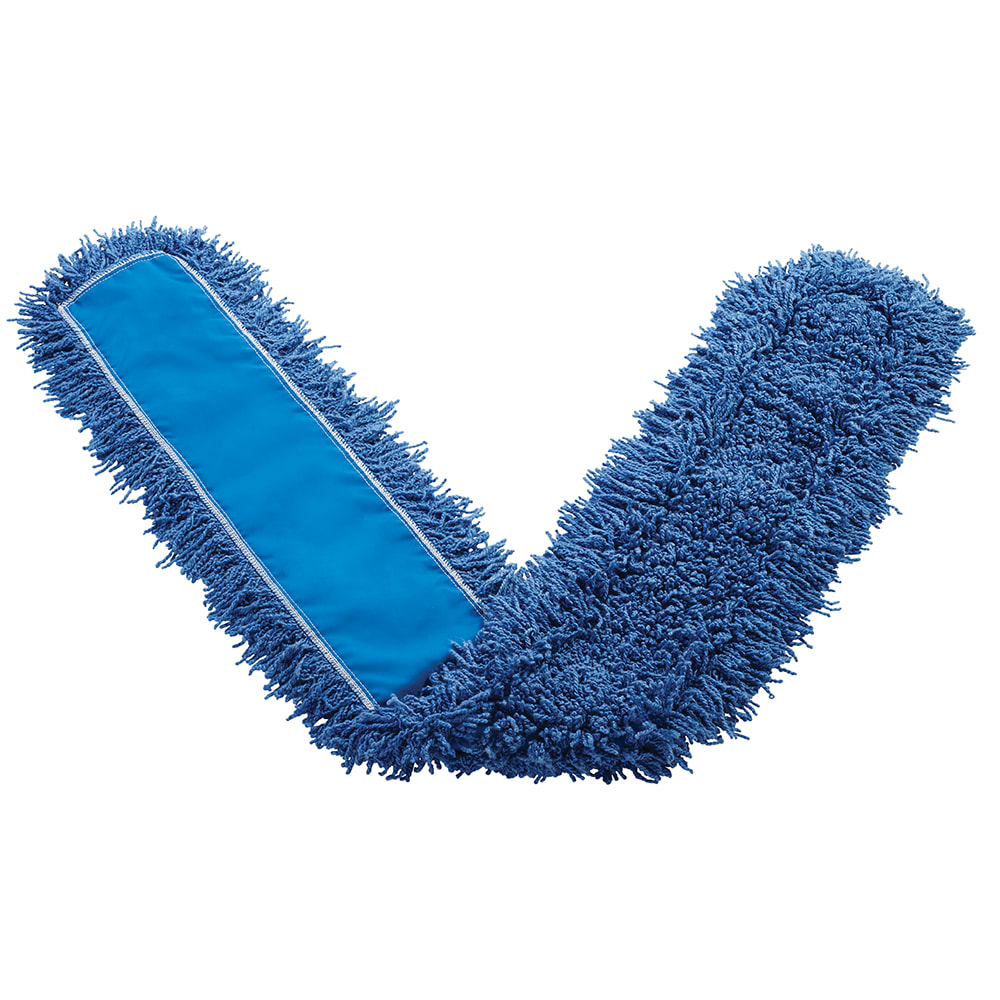 "Rubbermaid FGJ35800BL00 60"" Dust Mop Head Only w/ Twisted Loop Ends, Blue"