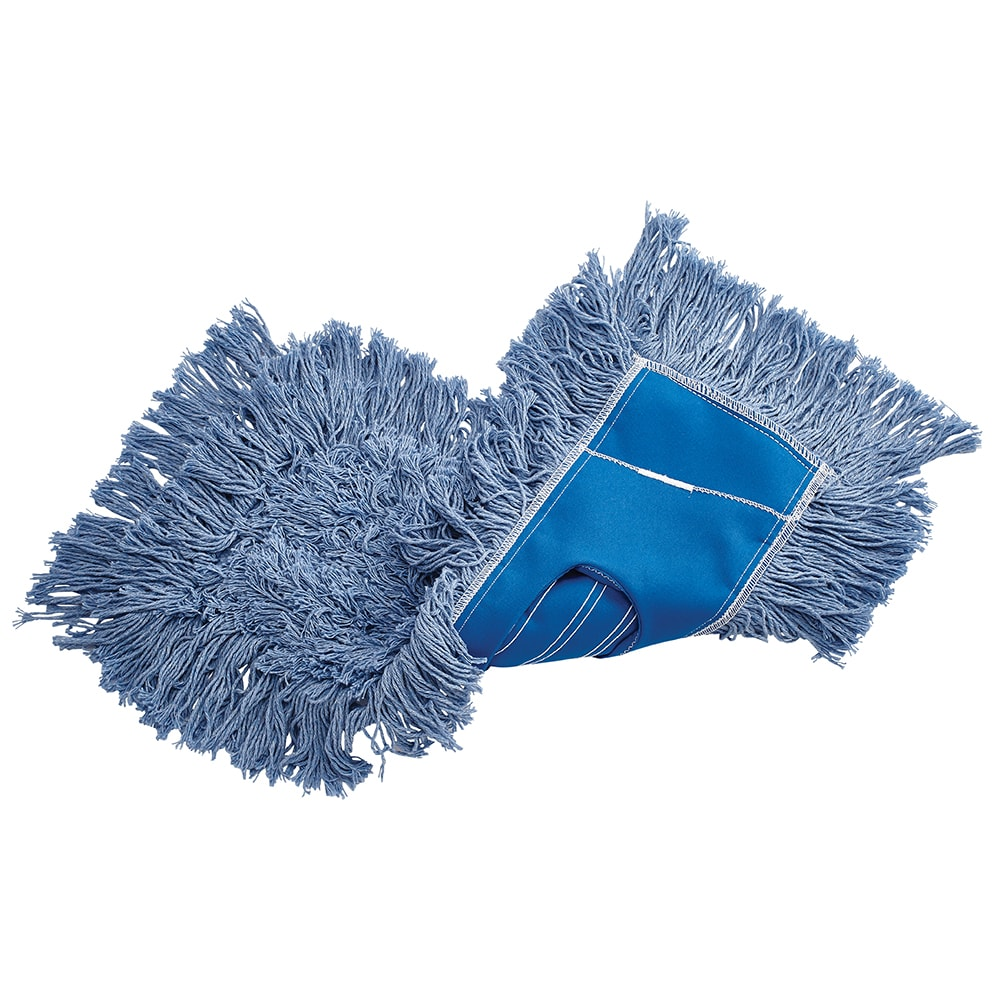 "Rubbermaid FGK15200BL00 18"" Kut-A-Way® Dust Mop Head Only w/ Cut Ends, Blue"