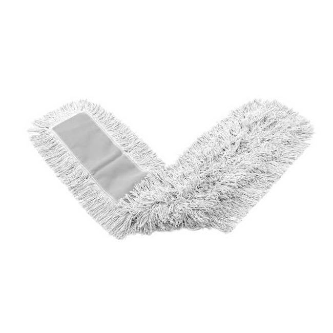 "Rubbermaid FGK15200WH00 18"" Kut-A-Way® Dust Mop Head Only w/ Cut Ends, White"