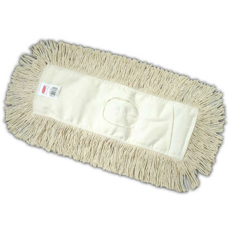 """Rubbermaid FGK75800WH00 Dust Mop - 60x5"""" Twisted Loop, Slip-On/Slip-Through Backing, White"""