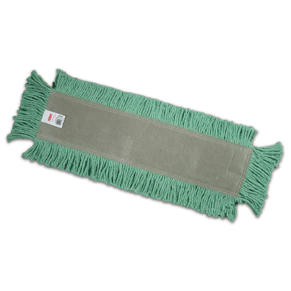 "Rubbermaid FGL15300GR00 24"" Disposable Dust Mop Head Only w/ Cut Ends, Green"