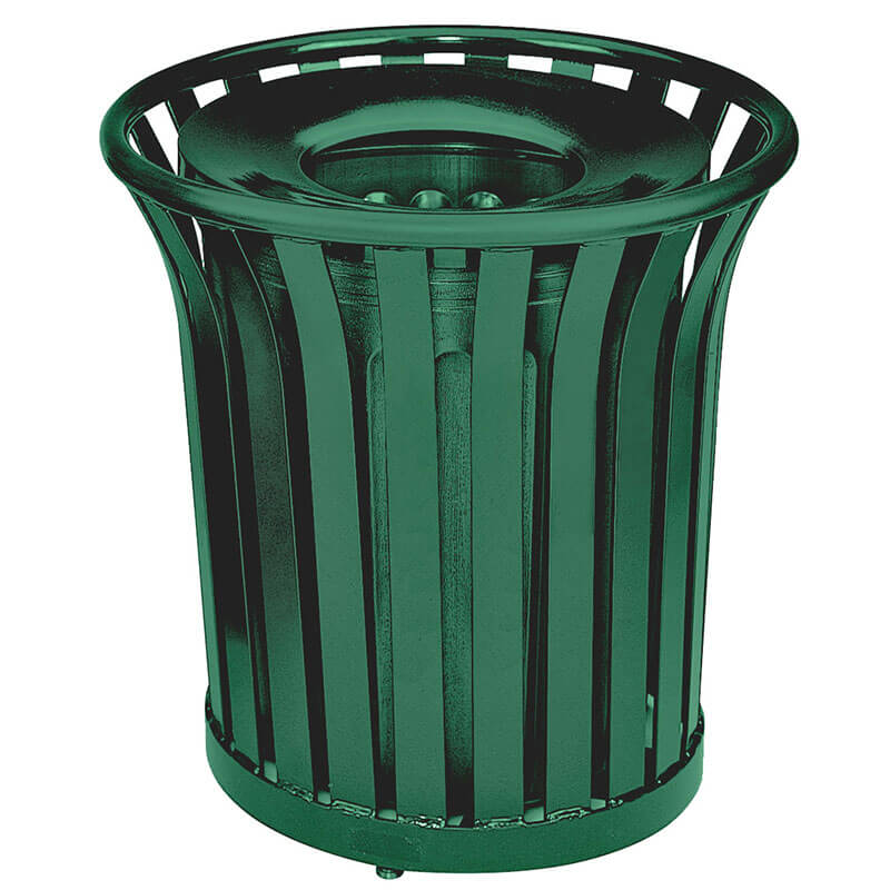 Rubbermaid FGMT32PLVSGN 36 gal Outdoor Decorative Trash Can - Metal, Green