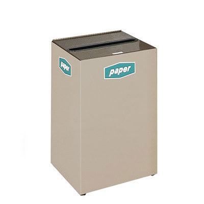 Rubbermaid FGNC24P10L 22.5-gal Paper Recycle Bin - Indoor, Decorative
