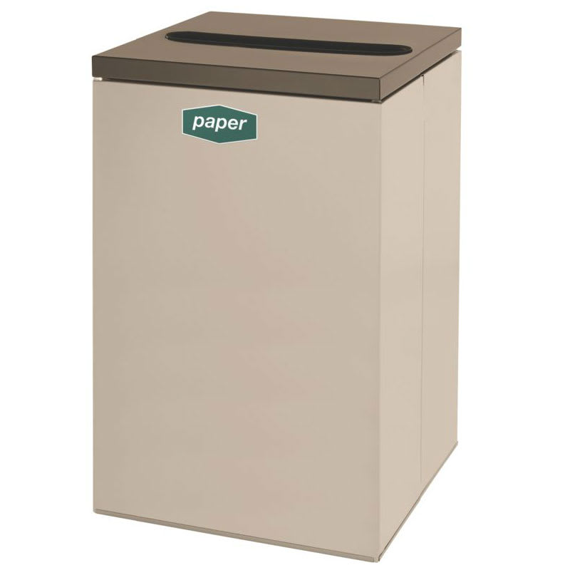 Rubbermaid FGNC24P5 22.5 gal Paper Recycle Bin - Indoor, Decorative