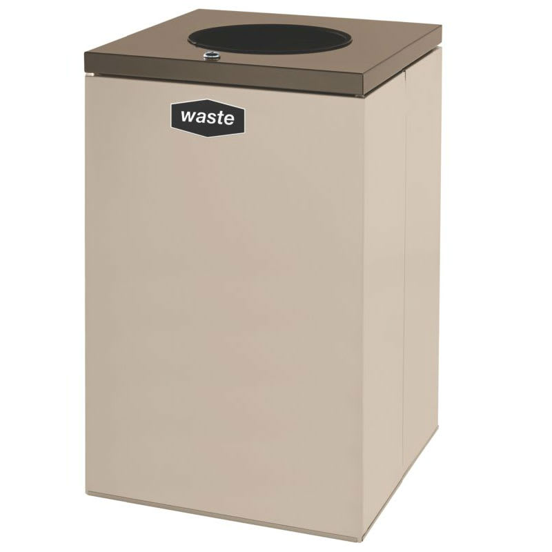 Rubbermaid FGNC24W4L 22.5-gal Multiple Materials Recycle Bin - Indoor, Decorative