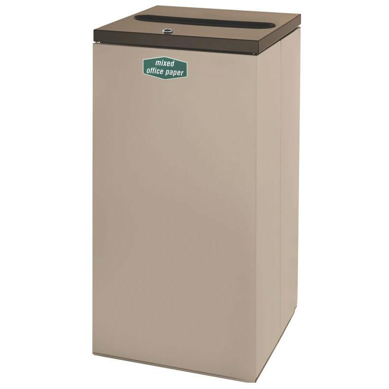 Rubbermaid FGNC30P10L 28.5-gal Paper Recycle Bin - Indoor, Decorative