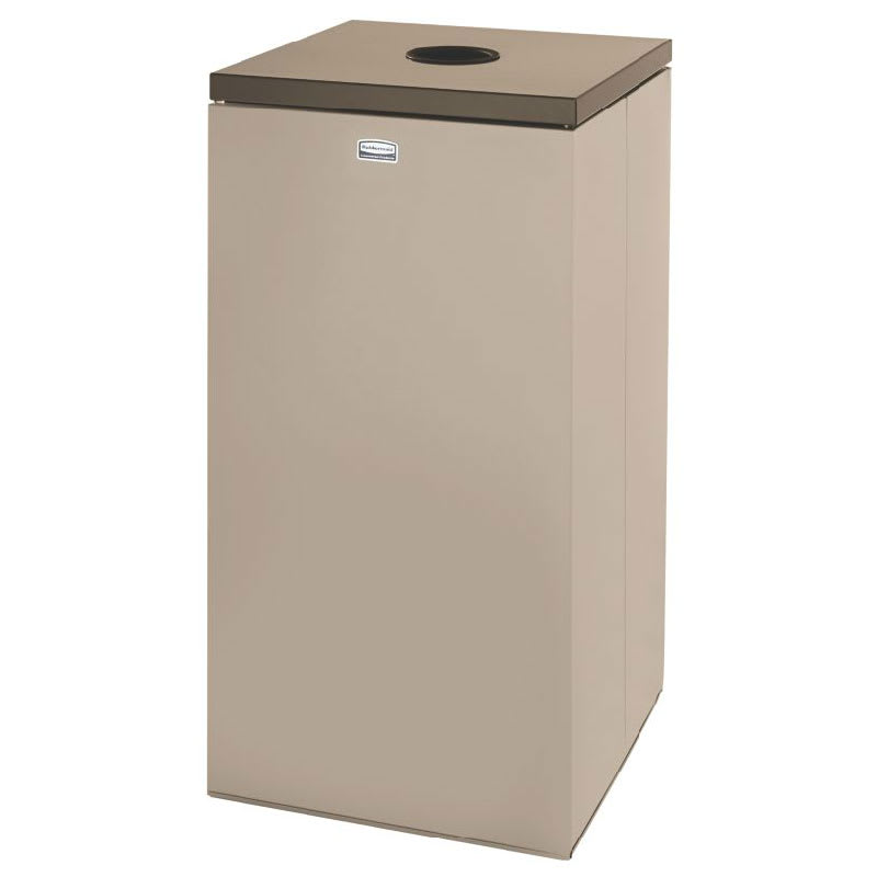Rubbermaid FGNC30P3 28.5-gal Paper Recycle Bin - Indoor, Decorative