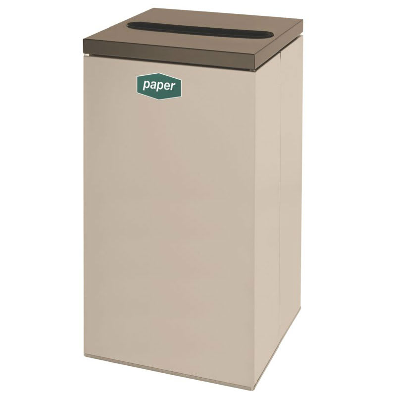 Rubbermaid FGNC30P5 28.5-gal Paper Recycle Bin - Indoor, Decorative
