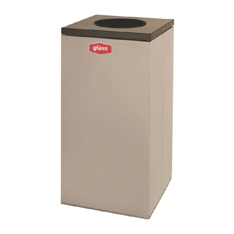 Rubbermaid FGNC30W1L 28.5 gal Glass Recycle Bin - Indoor, Decorative