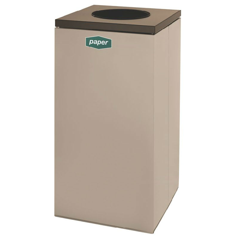 Rubbermaid FGNC30W5 28.5-gal Paper Recycle Bin - Indoor, Decorative