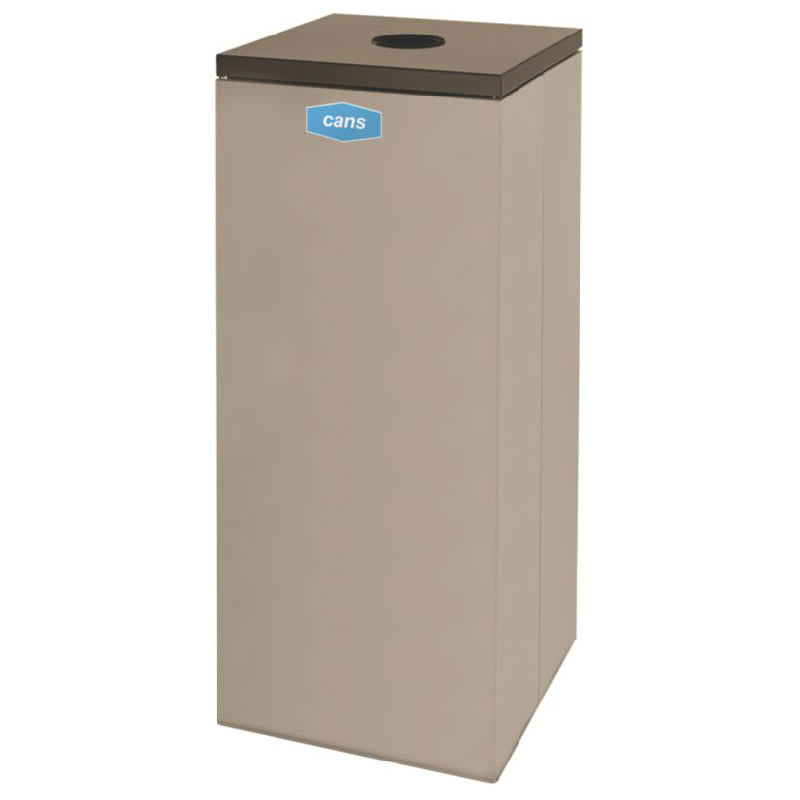 Rubbermaid FGNC36C2 34.5-gal Cans Recycle Bin - Indoor, Decorative