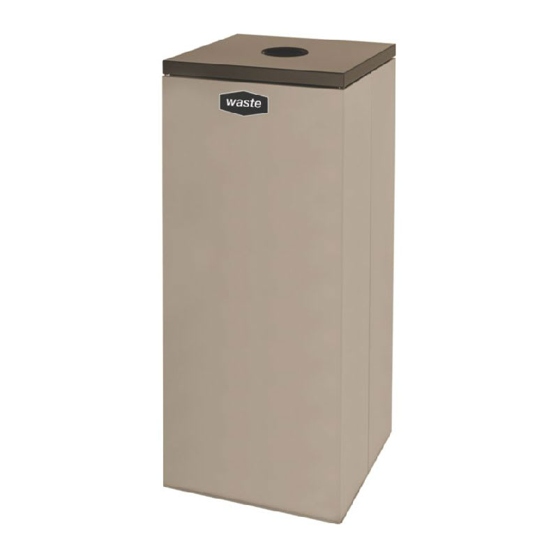 Rubbermaid FGNC36C4 34.5-gal Multiple Materials Recycle Bin - Indoor, Decorative