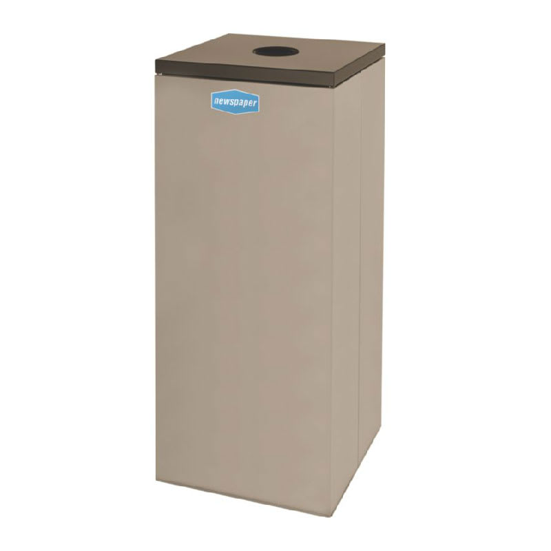 Rubbermaid FGNC36C6 34.5 gal Paper Recycle Bin - Indoor, Decorative
