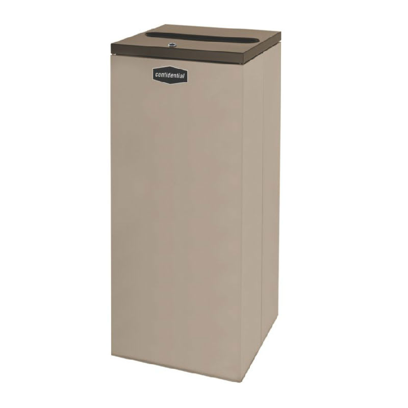 Rubbermaid FGNC36P11L 34.5-gal Paper Recycle Bin - Indoor, Decorative