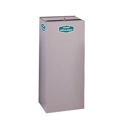 Rubbermaid FGNC36W 34.5-gal Multiple Materials Recycle Bin - Indoor, Decorative