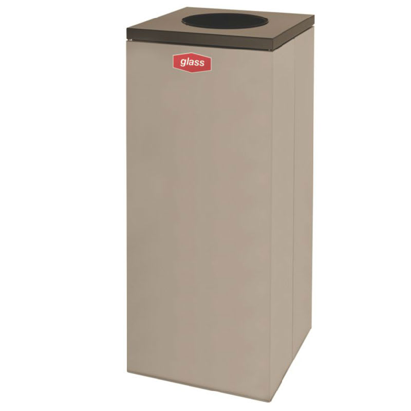 Rubbermaid FGNC36W1 34.5 gal Glass Recycle Bin - Indoor, Decorative