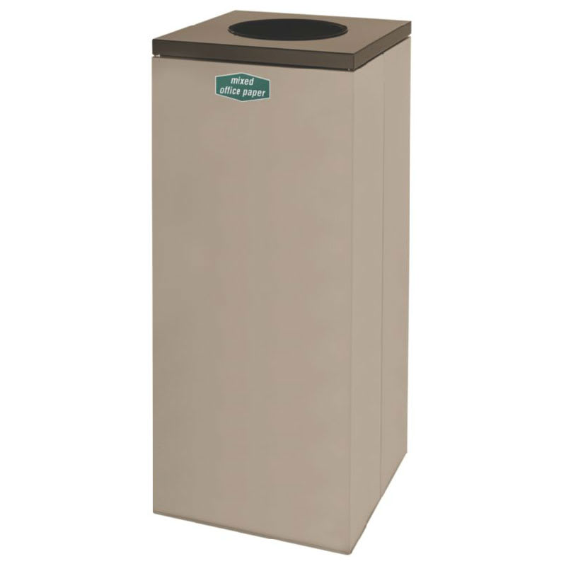 Rubbermaid FGNC36W10 34.5-gal Paper Recycle Bin - Indoor, Decorative