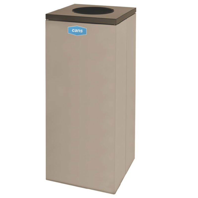 Rubbermaid FGNC36W2 34.5 gal Cans Recycle Bin - Indoor, Decorative