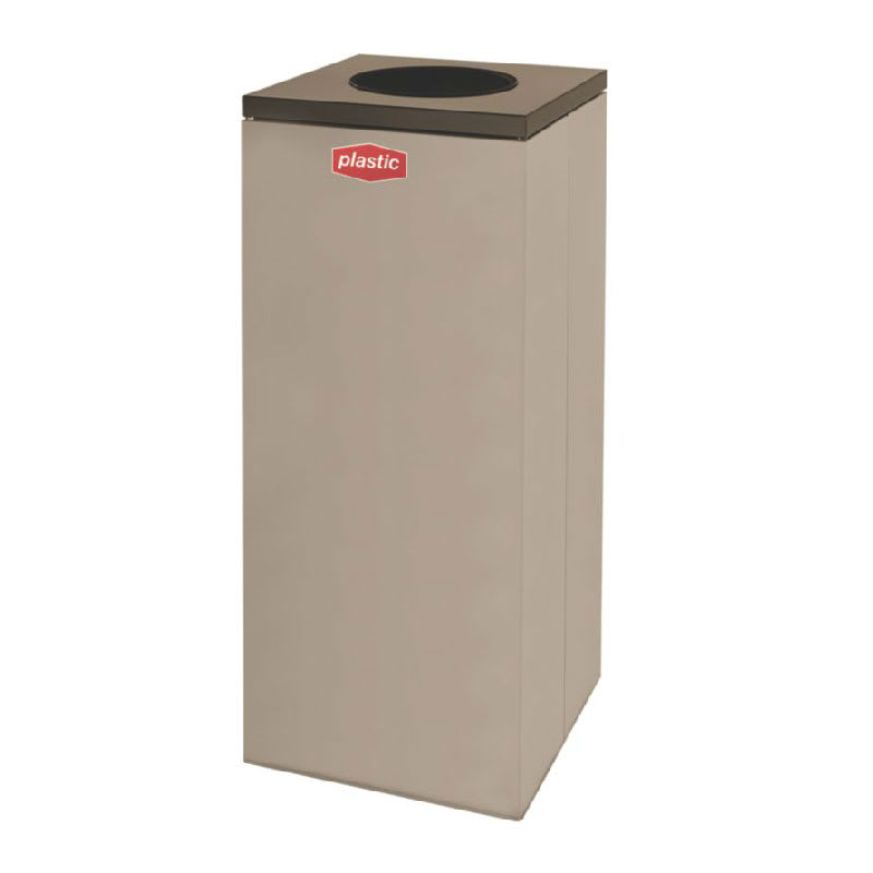 Rubbermaid FGNC36W3 34.5 gal Plastic Recycle Bin - Indoor, Decorative
