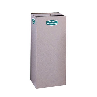 Rubbermaid FGNC36W3L 34.5-gal Plastic Recycle Bin - Indoor, Decorative