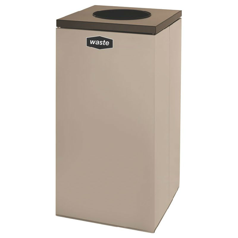 Rubbermaid FGNC36W4 34.5 gal Multiple Materials Recycle Bin - Indoor, Decorative