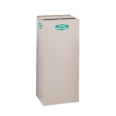 Rubbermaid FGNC36W5 34.5 gal Paper Recycle Bin - Indoor, Decorative