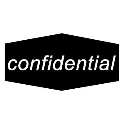 """Rubbermaid FGNCL11 Confidential"""" Recycling Decal - Black/White"""