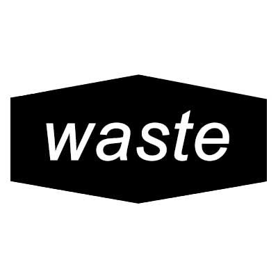 "Rubbermaid FGNCL4 Waste"" Recycling Decal - Black/White"