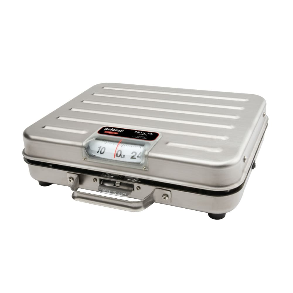 Rubbermaid FGP250SS Pelouze Receiving Scale - Dial Type, Low Profile, 250 lb x 1 lb, Stainless