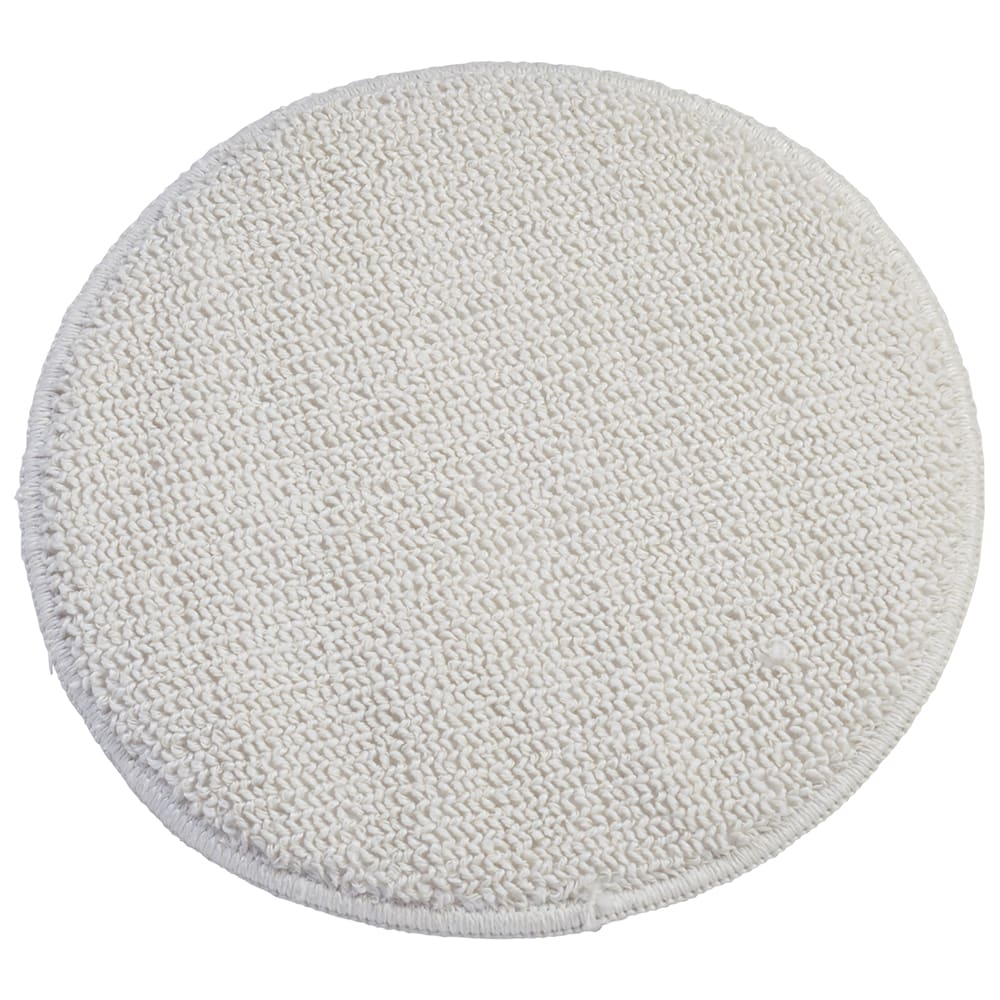 "Rubbermaid FGP25900WH00 19"" Round Bonnet Floor Machine Pad for 175-300 RPM, White"